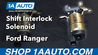 How to Replace Shift Interlock Solenoid 95-09 Ford Ranger