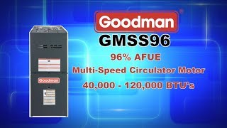Goodman GMSS96 96% AFUE Single Stage Upflow Gas Furnace