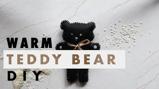Crafty Mami|  Warm Bag DIY to Avoid the Cold | Cute Teddy Bear Warm Bag to Gift This Season