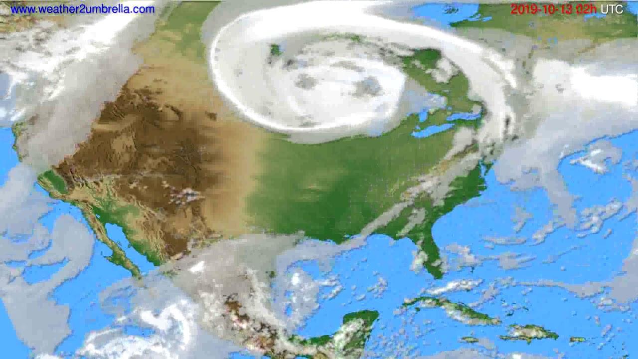 Cloud forecast USA & Canada // modelrun: 12h UTC 2019-10-10