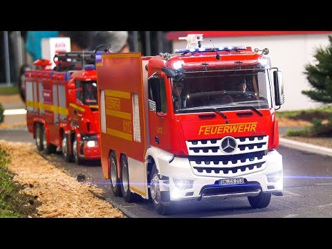 RC MODEL FIRE RESCUE TRUCK COLLECTION IN SCALE!! RC SCANIA, RC MAN, RC MERCEDES-BENZ