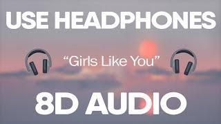 Gambar cover Maroon 5, Cardi B - Girls Like You (8D Audio) 🎧