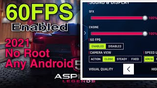 Play ASPHALT 9 with 60 FPS ENABLED  