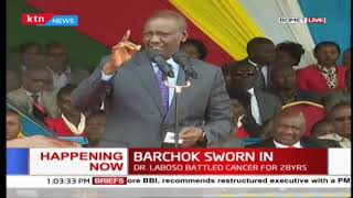 DP William Ruto's speech at the swearing-in ceremoney of Hillary Barchok in Bomet County