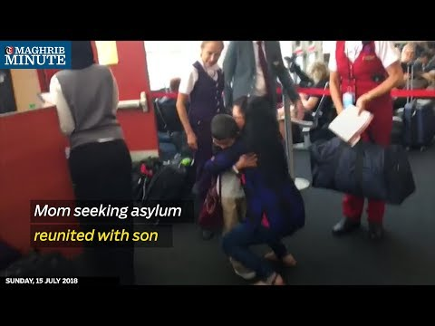Mother seeking asylum reunited with son