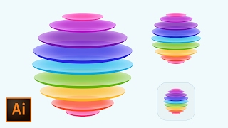 Colorful IOS Style App Icon In Adobe Illustrator CC (How To Create An Icon For An App)