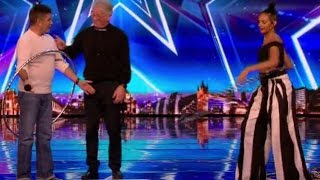 The Hoop Guy Totally Embarrasses Simon on Stage  | Auditions 4 | Britain's Got Talent 2017