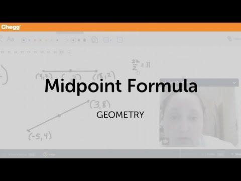 definition of midpoint formula chegg com