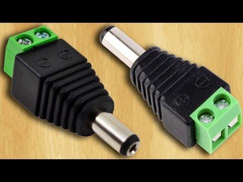 Штекер, коннектор или переходник для LED-контроллера и блока питания светодиодной ленты. Aliexpress
