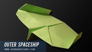 Как сделать бумажный самолетик Бумеранг   Spaceship