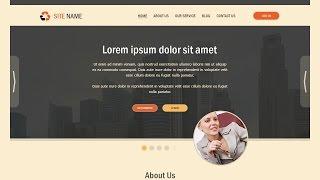 Create A Business Flat Web Design In Photoshop