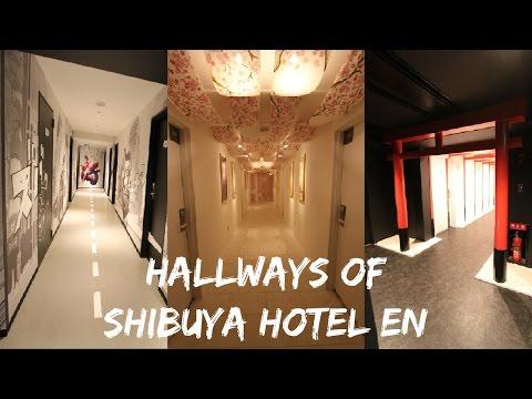 Shibuya Hotel En Review – Hotel Room and Exotic Hallways in Tokyo, Japan