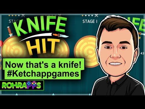 KNIFE HIT- Now that's a knife!- mobile game app review #Ketchappgames