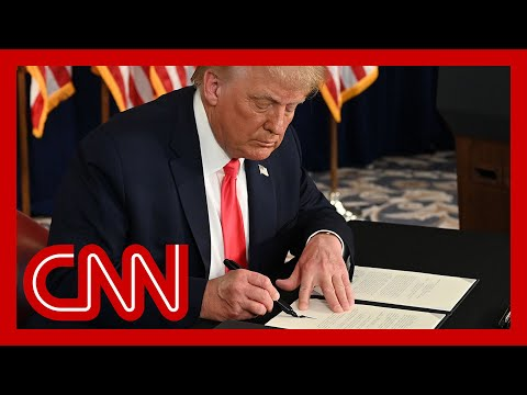 President Trump signs executive orders targeting economy