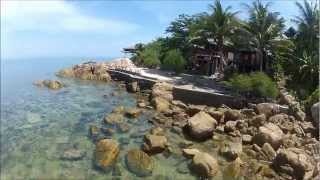 Koh Phangan's beaches – bird's eye – GoPro paramotor video –  BasoSVK – 2012