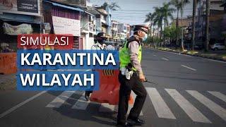 Karantina Wilayah Jakarta, Polisi Lakukan Simulasi Tutup Akses Jalan Keluar Masuk