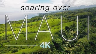 """SOARING OVER MAUI"" [4K] Hawaii Ambient Nature Relaxation Drone Film W Music 