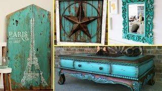 ❤ DIY Shabby Chic Distressed Turquoise Old Furniture Decor Ideas | Home Decor| Flamingo Mango|❤