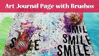Art Journal Page Tutorial With Brushos And Spray Inks