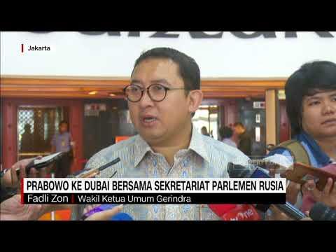 Fadli Zon: Prabowo ke Dubai Bersama Sekretariat Parlemen Rusia