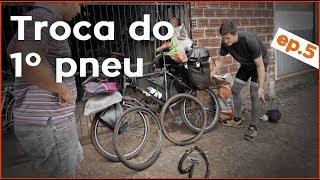 EP5 Primeiro Pneu Trocado | São José Do Cedro SC A Palmitos SC | Cicloviagem Escola Ayni🚲