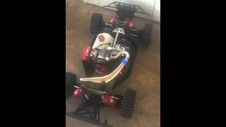 Losi 5ive RedArrow Revolver 34cc heat cycle
