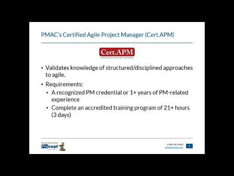 Procept - About the Certified Agile Project Manager (Cert.APM) Exam