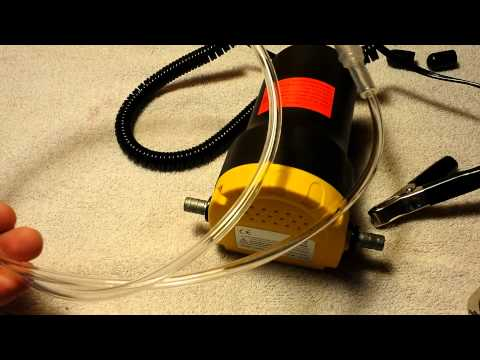 12 volt 5 amp oil transfer pump unboxing test and review