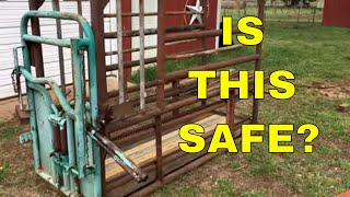 BUDGET CATTLE CHUTE AND HEADGATE