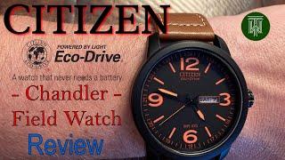 Citizen Eco-Drive Chandler 100m Field Watch - Review & Unboxing (BM8475-26E / E101M)