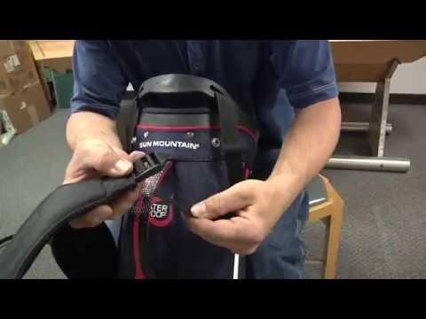 How to install golf bag shoulder strap
