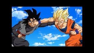Goku SSJ2 VS Goku Black First Time Fight!