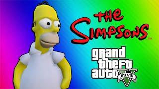 GTA 5 Simpsons Mod (Sandbox Funny Moments)