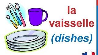 French Lesson 82 - Kitchen Utensils Appliances Vocabulary Ustensiles de cuisine Utensilios de cocina