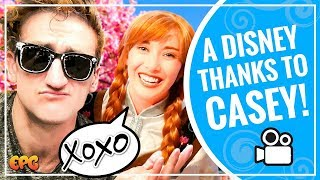 A HUGE Casey Neistat Disneyland Thank You from Elsa and Anna!