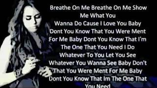 Miley Cyrus - Breathe On Me (lyrics - New song 2011.)