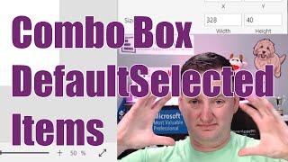 Power Apps Combo Box DefaultSelectedItems