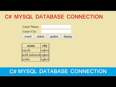 insert update delete view and search data from mysql database in csharp net