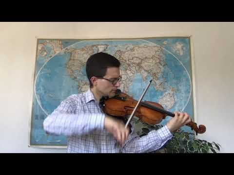"""Gabriel performs """"Jettin' Blues"""" for solo violin by Coleridge-Taylor Perkinson!"""