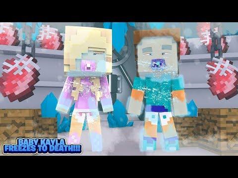 Minecraft 1000 WAYS TO DIE - BABY KAYLA FREEZES TO DEATH!!!