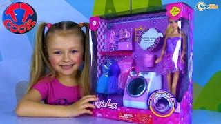 Стиральная машинка для куклы Барби Новый набор Игрушек Видео для детей