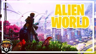 Surviving Among Aliens! - Setting up Factories on an Alien World (Satisfactory Gameplay Ep 1)