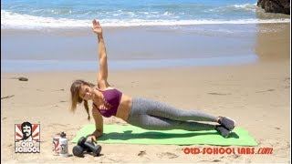 Angelica Kathleen's Core Beach Workout