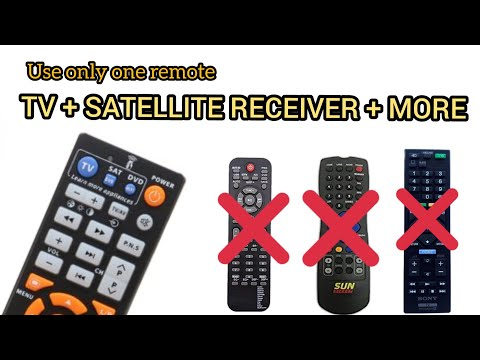 Universal remote control | You need one remote for your TV + satellite receiver + dvb + home theatre