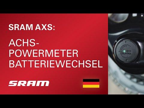 SRAM AXS Achs-Powermeter Batteriewechsel