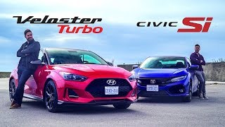 2019 Hyundai Veloster Turbo vs. Honda Civic Si - Affordable Coupe Face Off