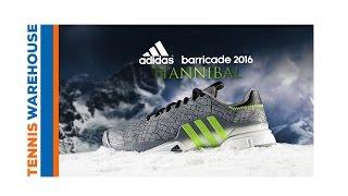Ανδρικά παπούτσια τένις Adidas Barricade Hannibal video