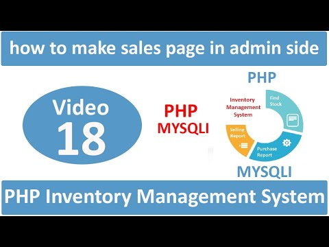 how to make sales page in admin side in php ims part-1