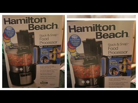 , Hamilton Beach 10-Cup Food Processor with Compact Storage (70760)