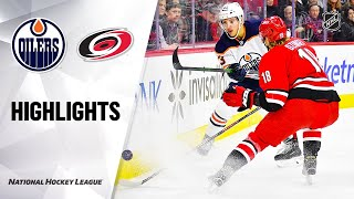 NHL Highlights | Oilers @ Hurricanes 2/16/20
